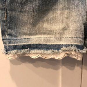 Cat & Jack Bottoms - Denim Overalls With Lace Trim